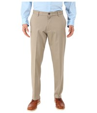 Dockers Signature Khaki Athletic Flat Front Stretch Timber Wolf Men's Casual Pants Beige