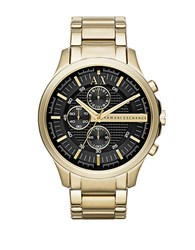 Armani Exchange Mens Goldtone Stainless Steel Chronograph Watch