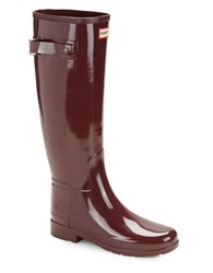 Hunter Knee High Rain Boots Dulse Red