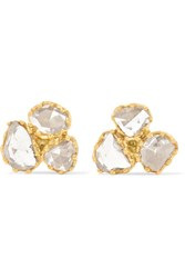 Pippa Small 18 Karat Gold Diamond Earrings