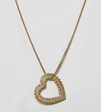 Regal Rose Gold Plated Cut Out Heart Charm Pendant Necklace