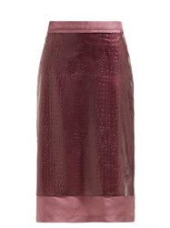 Sies Marjan Sula Crocodile Effect Midi Skirt Purple