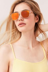 Urban Outfitters Squared Metal Frame Sunglasses