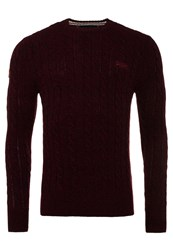 Superdry Harlo Cable Crew Neck Jumper Purple