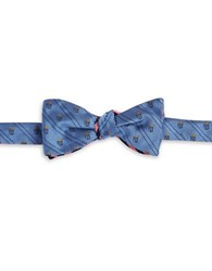 Brooks Brothers Reversible Patterned Bow Tie Blue