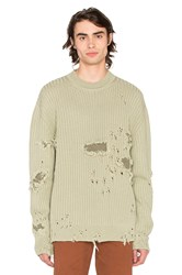 Yeezy Destroyed Military Rib Sweater Green