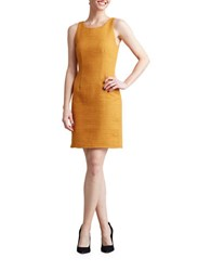Paper Crown Singapore Textured Dress Yellow