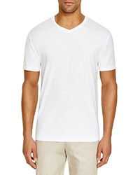 The Men's Store At Bloomingdale's V Neck Cotton Tee White