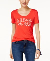 G.H. Bass And Co. Logo T Shirt Tomato Combo
