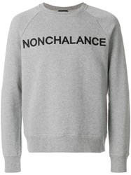 N 21 No21 Nonchalance Sweatshirt Cotton Polyester Grey
