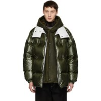 Yves Salomon Green Down Merino Shearling Coat