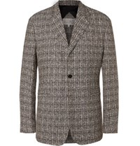 Maison Martin Margiela Linen Blend Tweed Blazer Black