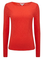 Phase Eight Slash Neck Tee Red