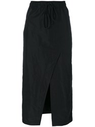 Lost And Found Rooms Asymmetric Midi Skirt Women Polyester L Black