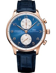 Iwc Iw371488 Portugieser Chronograph Alligator Leather And Rose Gold Watch