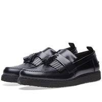 Fred Perry X George Cox Leather Tassel Loafer Black