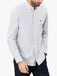 Joules Welford Check Shirt White Blue Check