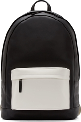 Pb 0110 Black Leather Large Two Tone Backpack