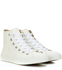 Chloe High Top Leather Sneakers White