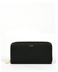 Tom Ford Grained Calfskin Zip Wallet Black