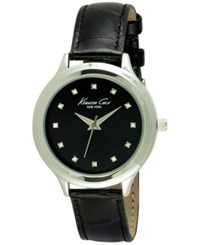Kenneth Cole New York Women's Black Leather Strap Watch 38Mm 10029554