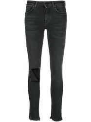 Dondup Ripped Knee Jeans Black
