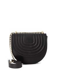 Jaeger Lillie Quilted Mini Saddle Bag Black