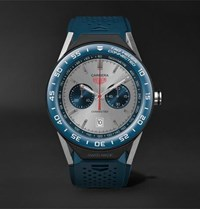 Tag Heuer Connected Modular 45Mm Titanium And Rubber Smartwatch Petrol