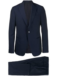 Z Zegna Two Piece Tailored Suit Blue