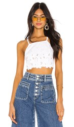 Free People June High Neck Bralette In White.