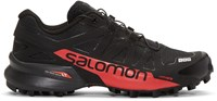 Salomon Black And Red S Lab Speedcross Sneakers