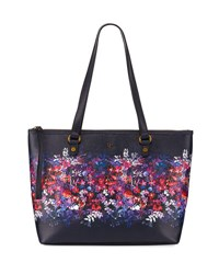 Elliott Lucca Aria Floral Print Shoulder Tote Bag White