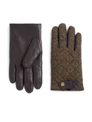Polo Ralph Lauren Quilted Hybrid Leather Touch Gloves Brown