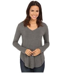 Culture Phit Kierra V Neck Top Heather Grey Women's Clothing Gray