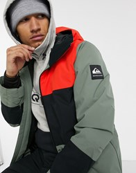 Quiksilver Sycamore Ski Jacket In Green