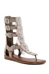 Carlos By Carlos Santana Taos Beaded Gladiator Sandal Brown