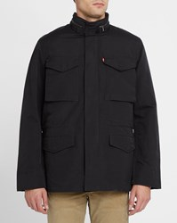 Levi's Black M65 Parka With Removable Sherpa Lining