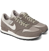 Nike Air Zoom Epic Luxe Nubuck Leather And Mesh Sneakers Gray
