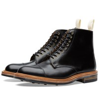 Trickers End. X Tricker's Toe Cap Boot Black