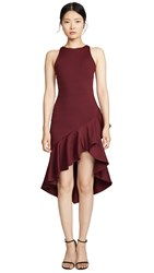 Susana Monaco Ruffle Sleeveless Dress Oxblood