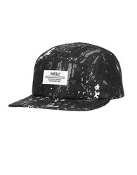 Wesc Splatter 5 Panel Cap Black