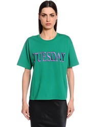 Alberta Ferretti Tuesday Slim Fit Cotton Jersey T Shirt