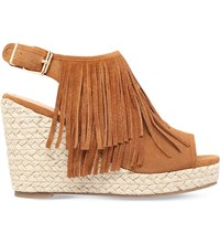 Miss Kg Peyton Suedette Wedge Sandals Tan