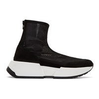 Maison Martin Margiela Mm6 Black Mesh Sock Runner Sneakers