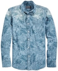 American Rag Men's Washed Out Tropical Print Shirt Only At Macy's Blue Wash