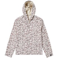 Lanvin Cracked Paint Print Hooded Jacket White