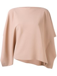 Valentino Batwing Top Women Polyester Viscose M Nude Neutrals