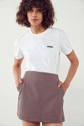 Cooperative Gingham Side Pocket Mini Skirt Pink