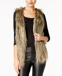 Guess Michela Faux Fur Vest Honey