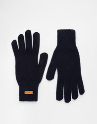 Fred Perry Tuck Stitch Gloves Navy